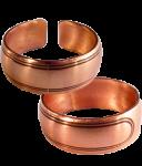 Медное кольцо простое 40.002 размер 18-20,5
