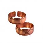 Медное кольцо простое 40.003 размер 18-20,5