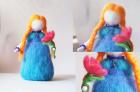 Кукла с цветком
