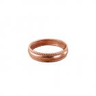 Медный перстень литой нетонированый 11.047 р-р 16,5