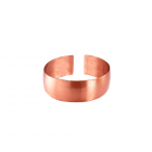 Медное кольцо без рисунка 40.001 размер 18-20,5