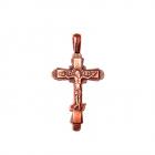 Медный крестик литой 1.011