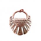 Медное височное кольцо литое 5.003